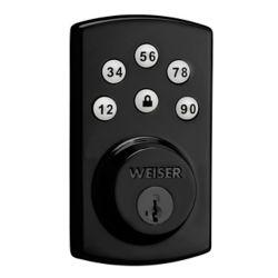Weiser Powerbolt 2.0 Black Keyless Entry Electronic Deadbolt