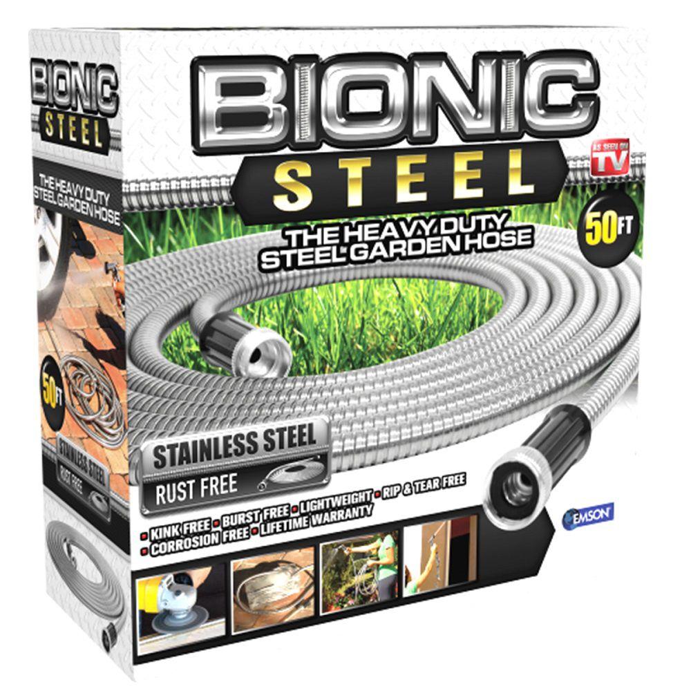Bionic Steel 0.63 inch Dia. x 50 ft. Heavy-Duty Stainless Steel Garden Hose