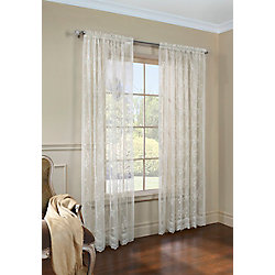 Habitat Mona Lisa sheer scalloped lace, rod pocket tailored panel, shell 56in x 84in