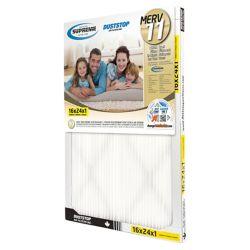 Duststop Paquet de 6 filtres plissés Supreme MERV 11 de 16x24x1 (40,6 x 60,9 x 2,5 cm)