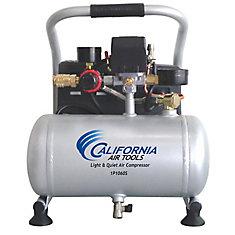 1P1060S Compresseur d'air avec réservoir d'acier, sans huile, silencieux, 3,78 L, ,6 CV