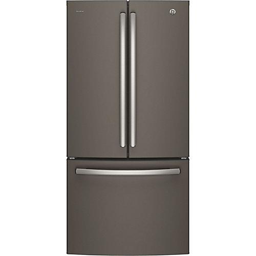 33 po L 24,8 pi.cu. Réfrigérateur encastrable à porte française - Ardoise