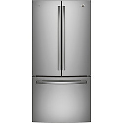 GE Profile 33-inch W 24.8 cu. ft. French Door Refrigerator in Stainless Steel