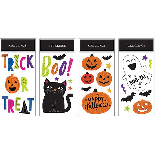 HAL Halloween Gel Cling Decoration (Assorted 12-Pack)