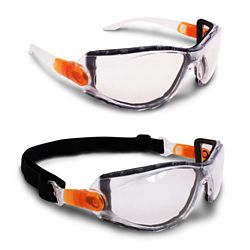 Workhorse 2 in 1 Safety Goggles/Safety Glasses with Clear Lens