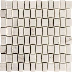 Squareweave White Marble Polished Mosaic Tile