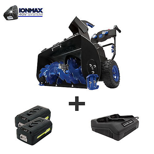 Cordless Two Stage Snow Blower | 24-In · 80 V · 2 x 5 Ah Batteries | 4-Speed