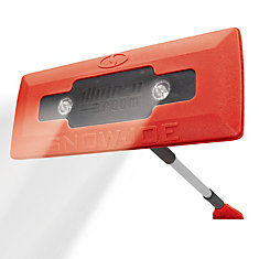 PRO LED lighted 4-in-1 Snow Broom + Ice Scraper (Red)