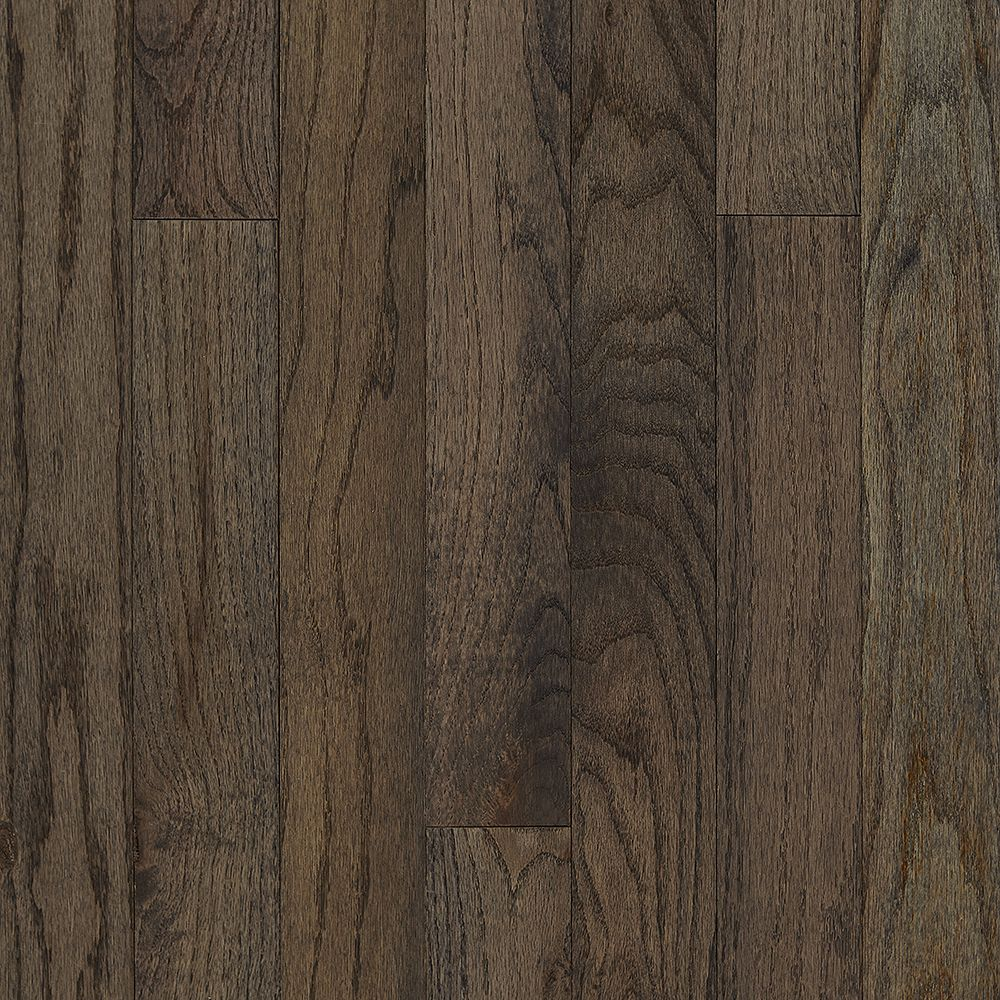 Oak Gray Solid Hardwood Plank 22sf