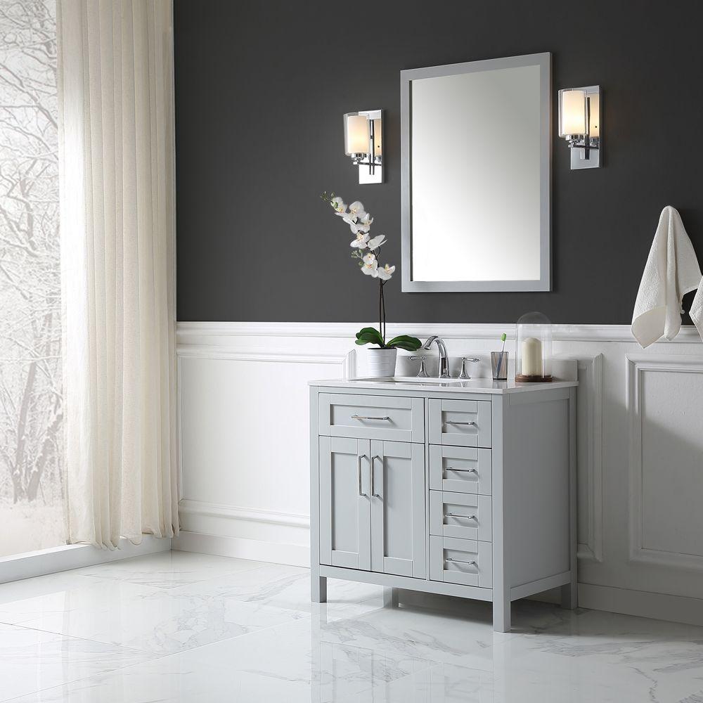 ove decors tahoe 36 inch x 21 inch x 34 5 inch dove grey freestanding bathroom vanity combo with. Black Bedroom Furniture Sets. Home Design Ideas