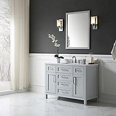 Tahoe 48 in. X 21 in. X 34.5 in. Dove Grey Freestanding Bathroom Vanity With Assorted Mirror
