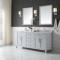 freestanding bathroom vanity. Tahoe 72 In. X 21 34.5 Dove Grey Freestanding Bathroom Vanity T