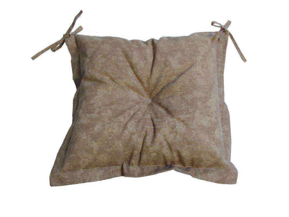 Bozanto Inc Beige Seat Cushion With Beige & Tan Ties