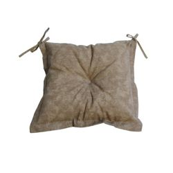 Bozanto Inc Beige Seat Cushion With Beige & Tan Ties