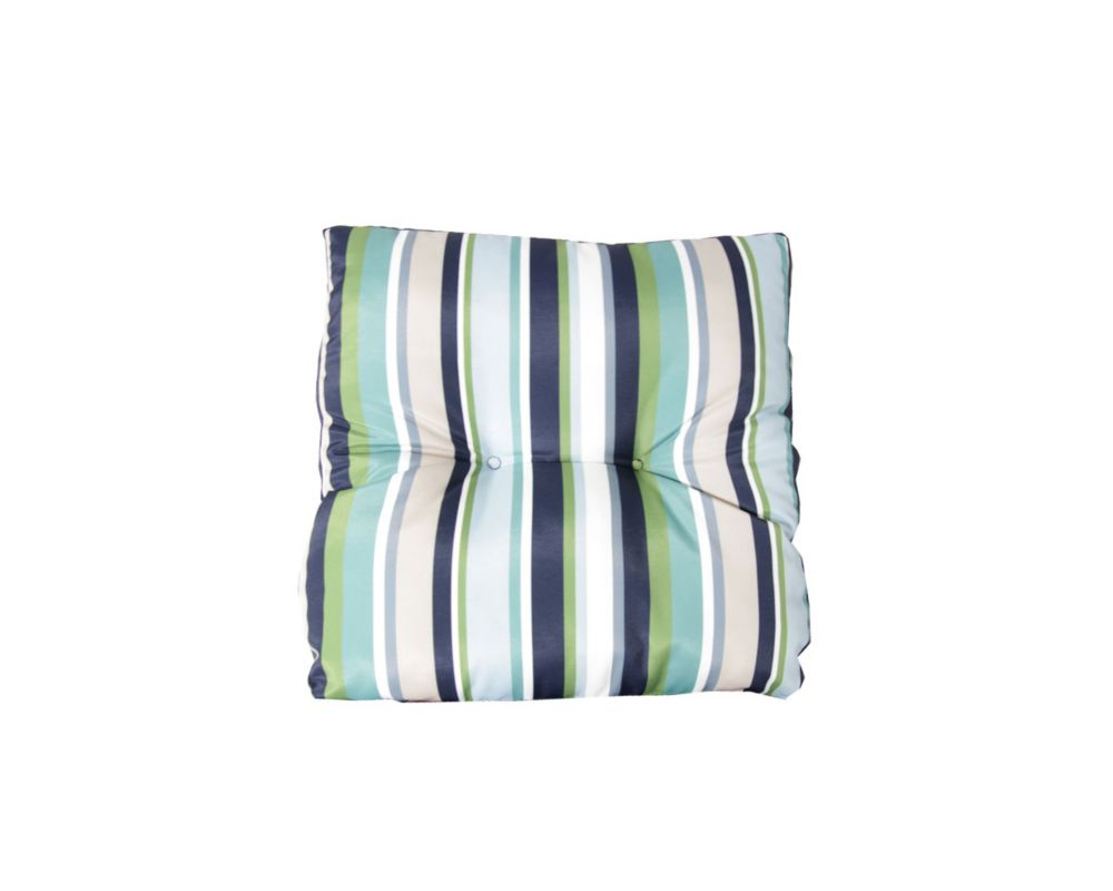 Bozanto Inc 18 x 18 x 4-inch Stripes Seat Cushion in Green