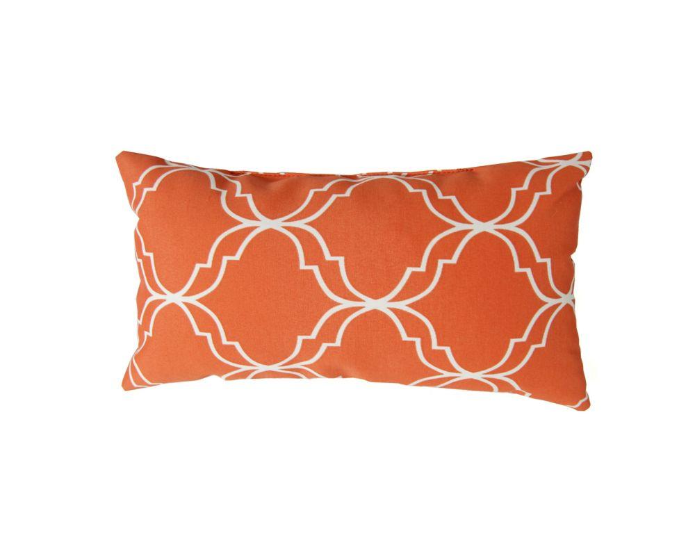 Bozanto Inc 16 x 8 x 4 inch Head Toss Cushion in Orange
