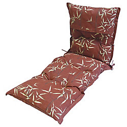 Bozanto Inc Red Leaves Lounge Cushion 24 x 69 x 4 inch