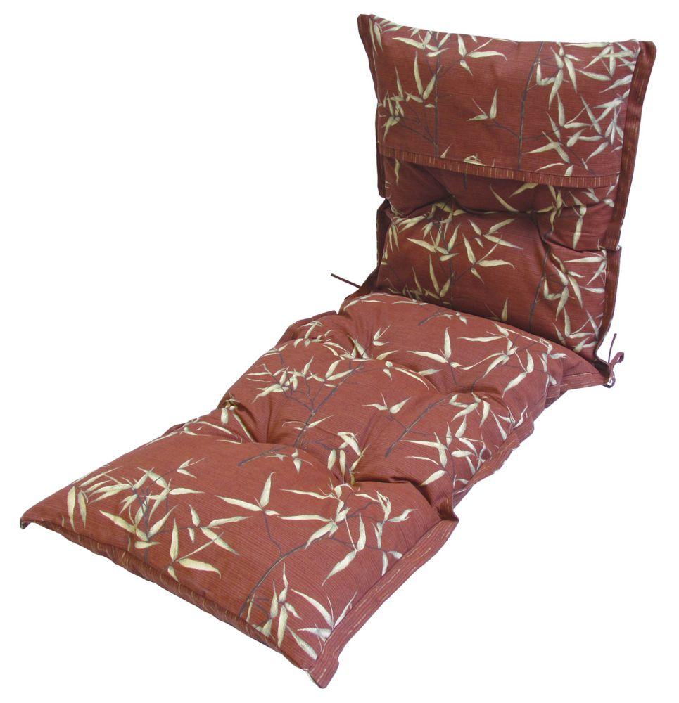 Bozanto Inc Red Leaves Lounge Cushion 24 x 69 x 4 inch