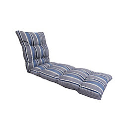 Bozanto Inc 72 x 22 x 4.5-inch Stripes Lounge Cushion in Blue