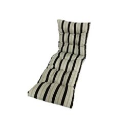 Bozanto Inc 22 x 70 x 4.5-inch Stripes Lounge Cushion in Black