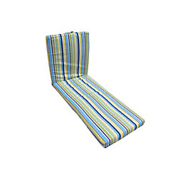 Bozanto Inc 22 x 70 x 3.5 inch Lounge Cushion with Multi Color Stripes