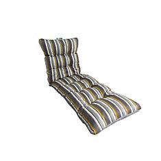 Coussin De Chaise Longue Rayures Gris 72 X 22 45