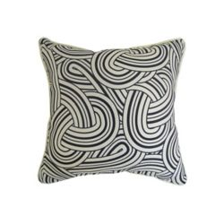 Bozanto Inc 16 x 16 x 6 inch Toss Cushion in Black and White