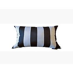 Bozanto Inc 13 x 19 x 5 inch Toss Cushion in Black and White