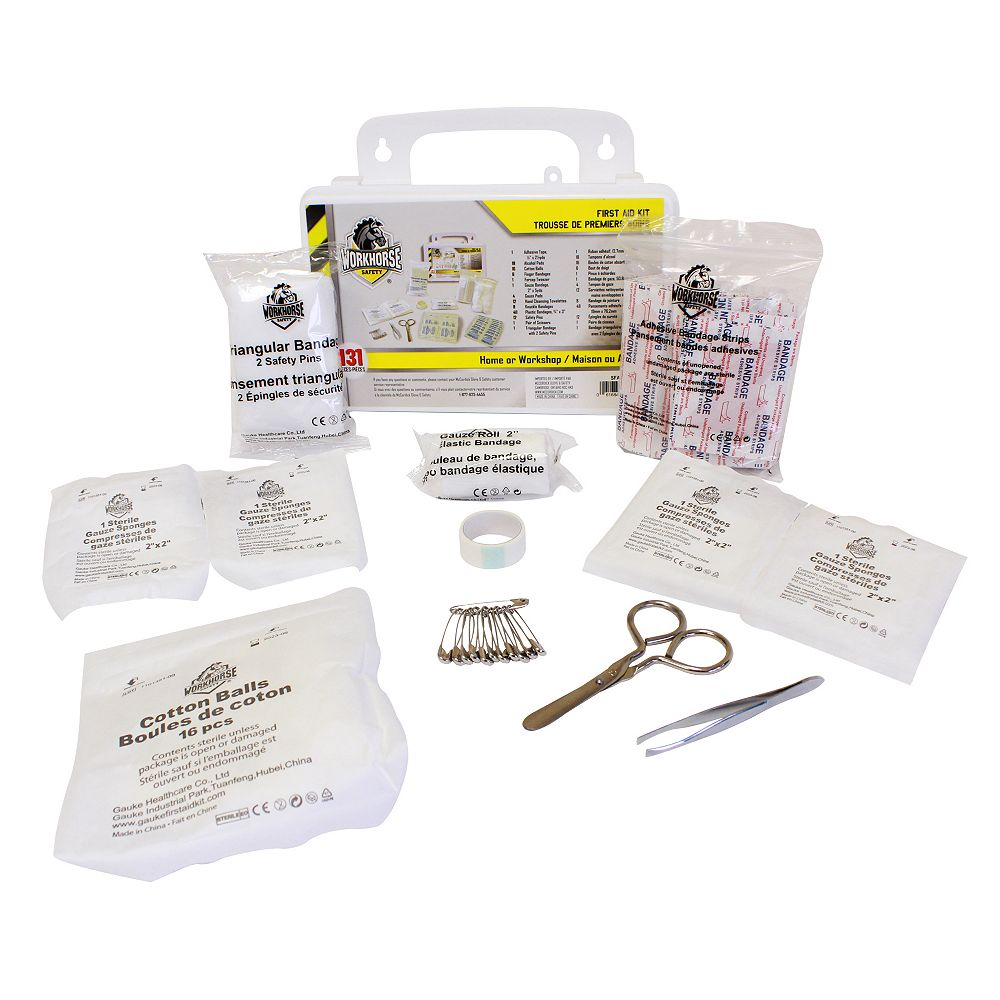 Workhorse Home and Workshop First Aid Kit (131 Pieces)