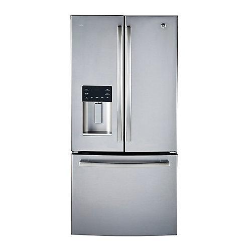 33 pouces L 23,8 pi.cu. Réfrigérateur encastrable à porte française en acier inoxydable - ENERGY STAR