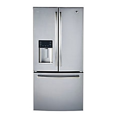 33 inch W 23.8 cu.ft. French Door Bottom-Mount Refrigerator in Stainless Steel ENERGY STAR