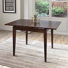 Table extensible Dillon avec 2 rallonges de 8 po, cappuccino
