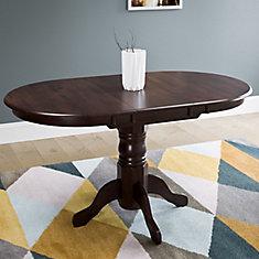 Table ovale extensible Dillon avec rallonge-papillon 12 po, cappuccino