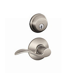Security Combo Accent Passage Satin Nickel