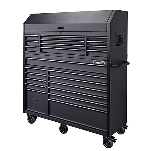 56-inch 23-Drawer Tool Chest and Rolling Cabinet Set in Textured Black Matte