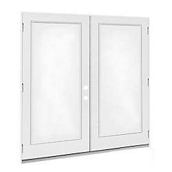 JELD-WEN Windows & Doors 5 ft. French Door LH Outswing with 1 Lite door glass