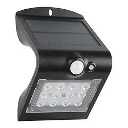 Defiant 1.5W Led Solar Wall Light With PIR sensor