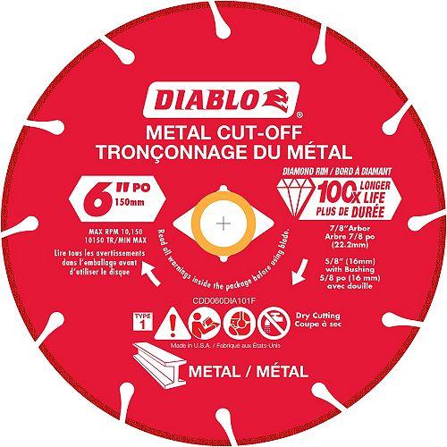 Diablo Meule 6 pouce à diamant pour tronçonner le métal
