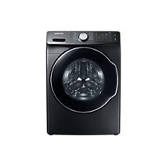 5.2 cu. ft. Front Load Smart Home Ready Washer with Steam Washing Function in Black