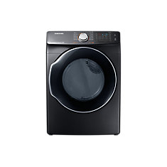 27-inch 7.4 cu. ft. Front Load Dryer with Multi-Steam Technology in Black
