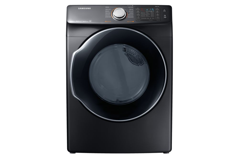 Samsung 27-inch 7.4 cu. ft. Front Load Dryer with Multi-Steam Technology in Black