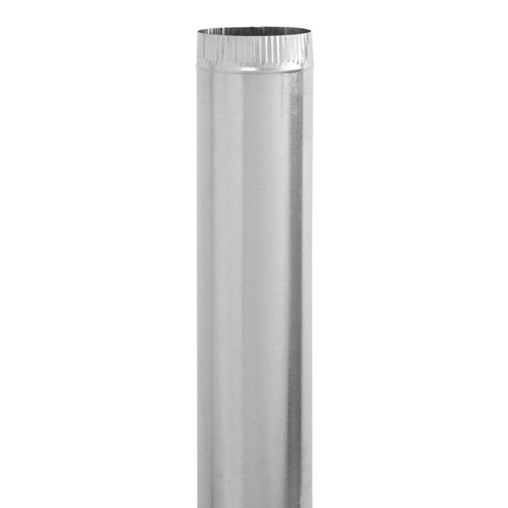 8 x 60 Inch Galvanized Pipe 28 gauge