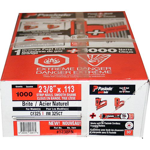 Paslode Quicklode(Tm) Framing Fuel And Nail Pack- 2 3/8 Inch
