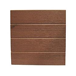 Eon 12 Po x 12 Pi - Revêtement de Bordure en Relief - Chestnut (cintres requis)