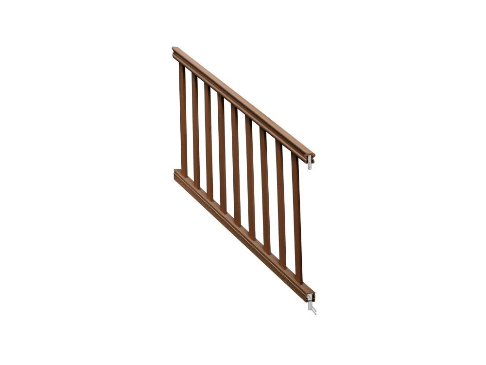 Eon 6 Ft. - 36 inch Traditional Stair Rail Kit -Chestnut