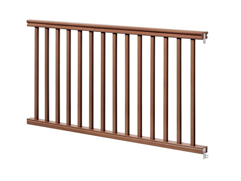 Eon 6 Ft. - 42 inch Traditional Handrail Kit - Chestnut