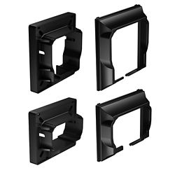 Classic Horizontal Rail Connectors In Black (4-Pack)