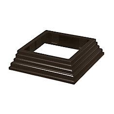 4 inch x 4 inch Traditional Post Base Trim - Bronze