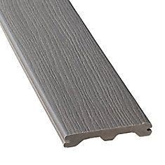 1-inch x 5 1/4-inch x 12 ft. Grooved Composite Decking in Grey