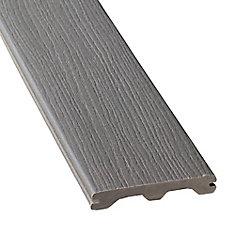 12 Pi. - Revêtement en Composite Rainuré - Grey